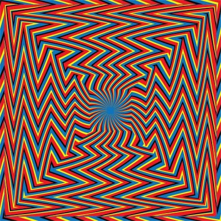 zigzagger: Zigzagger Squared     motion illusion Stock Photo