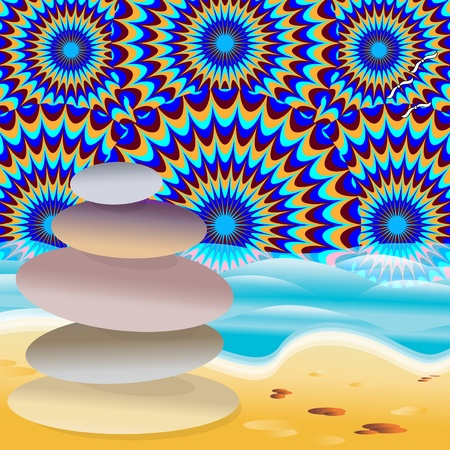 Beach Stoned Stock Vector - 17243455