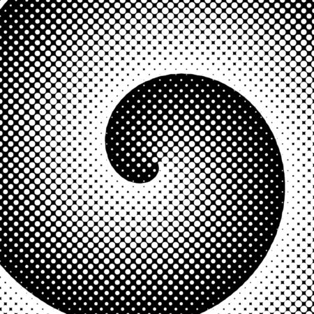 halftone dots: Spiral Snowstorm Stock Photo
