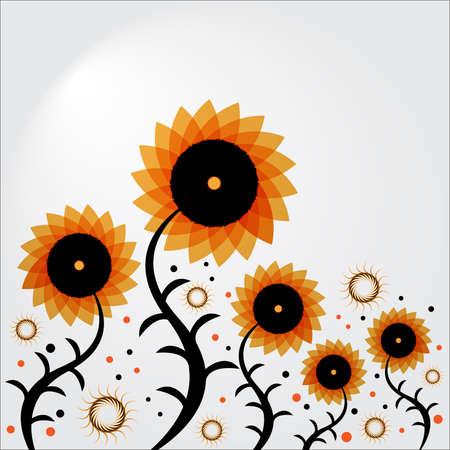 herbstblumen: Herbst Blumen Illustration