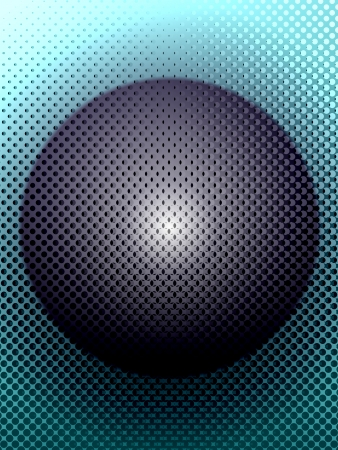sphere: Metal Sphere and Ornamental Grille Stock Photo