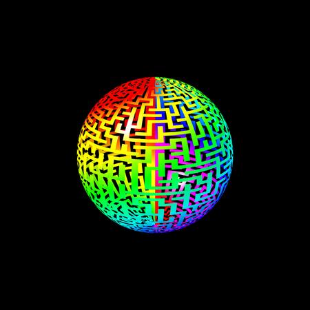 Rainbow Maze Ball photo