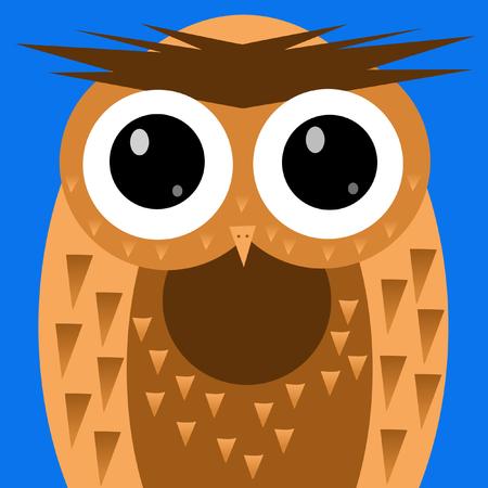 Wide-eyed Owl Stok Fotoğraf