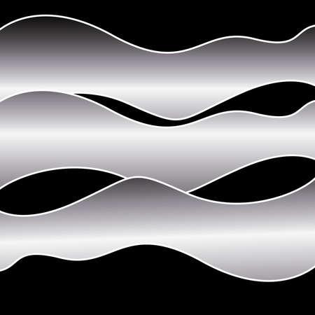 metallic: Shiny Metallic Waves
