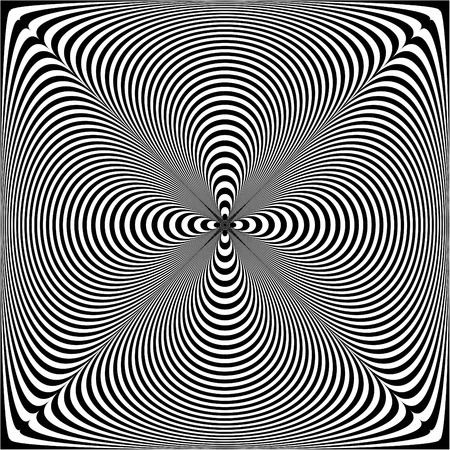op: Puckered Op Art Pattern Illustration