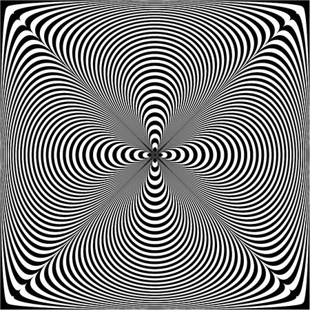 Puckered Op Art Pattern Иллюстрация