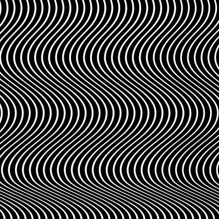 Op Art Waves Иллюстрация