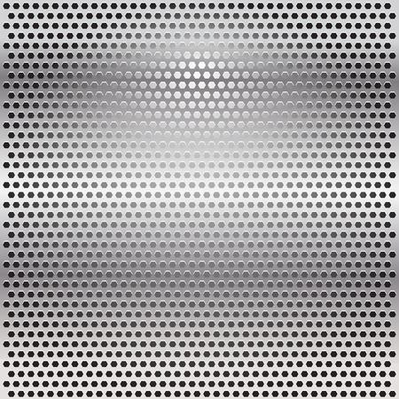 grille: Warped Metal Grille Illustration
