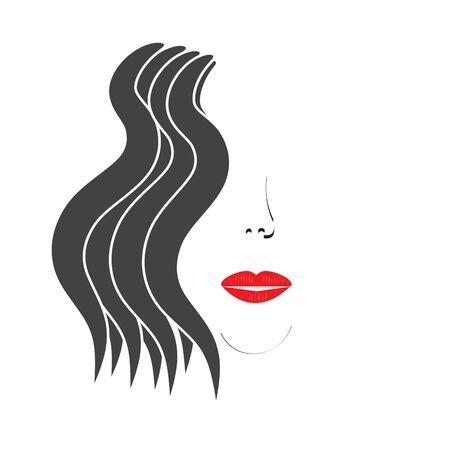 minimalista: Minimalista portré egy lány