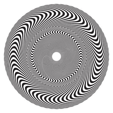 op art: Op Art Wheel