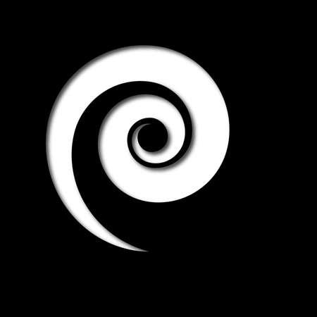 Black Spiral Cutout