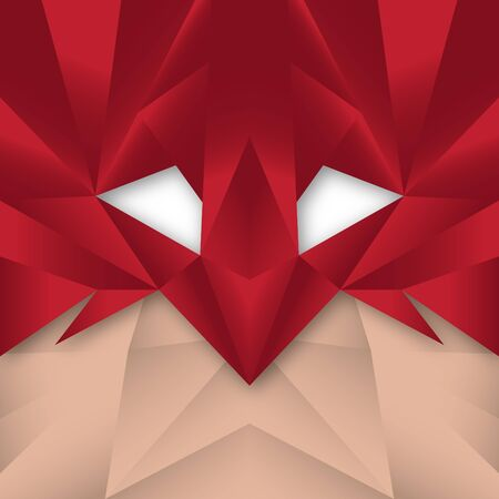 mystery: Superhero Polygonal Abstract Stock Photo