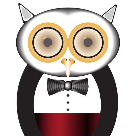red eye: Tuxedo Owl
