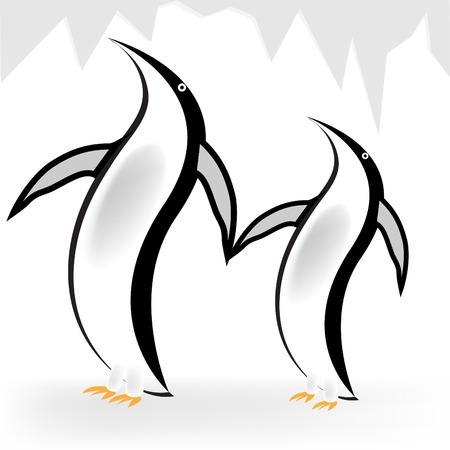 antarctic: Penguins Illustration