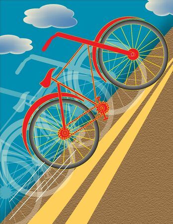 pedaling: Bicycle Poster
