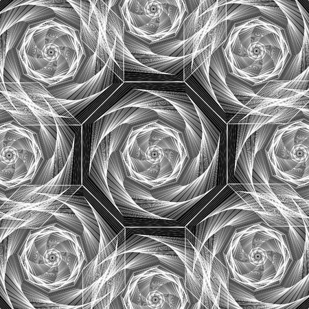 Octagon Spirals Ilustrace