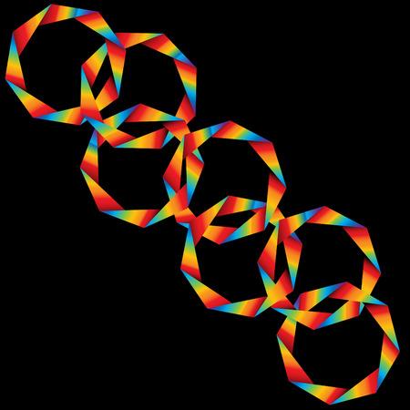 Origami Rainbow Rings