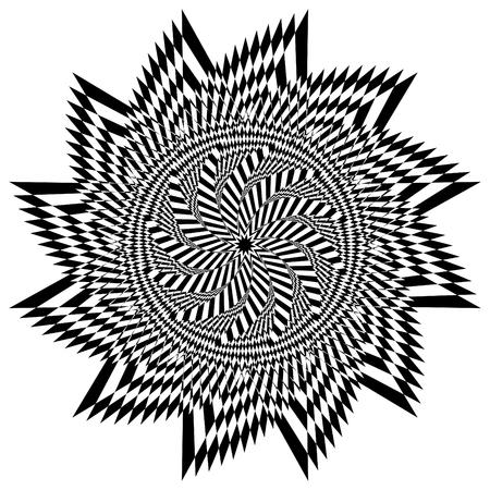Op Art Star Flower Ilustrace