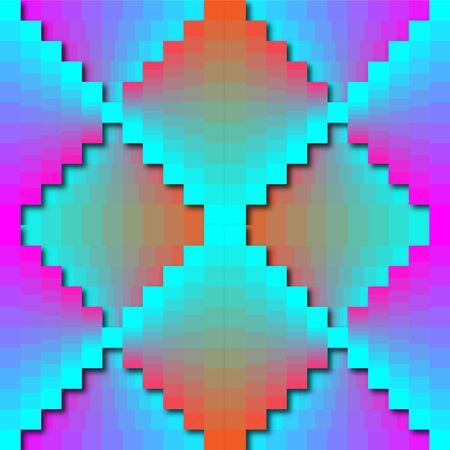 Color Matrix Zigzag Pattern