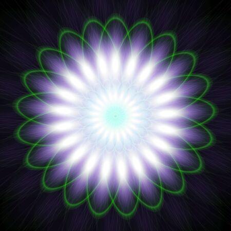 Glowing Purple Floral Pattern