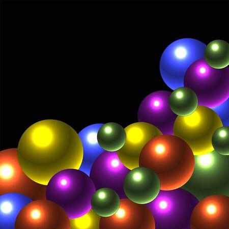 Glow Balls Ilustrace