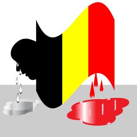 tragedy: Belgium Tragedy Illustration