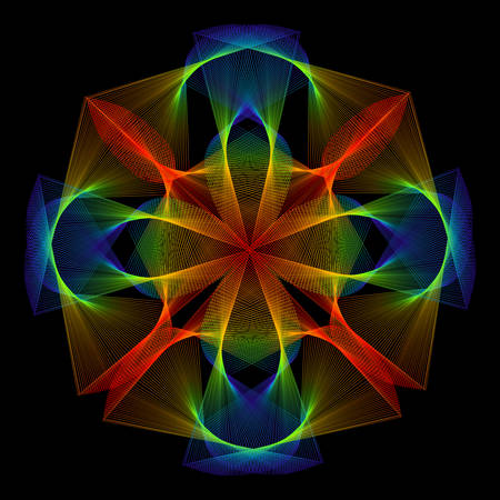 mesh: Colorful Mesh Pattern
