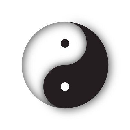 Paper Cutout Yin Yang Symbol
