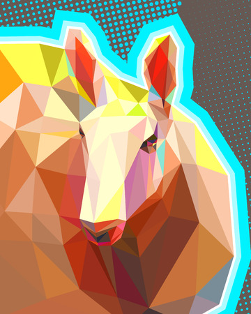 A sheep in the low poly technique