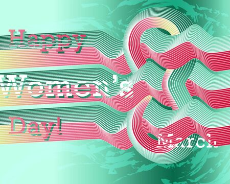 Modern abstract banner for International Womens Day March 8