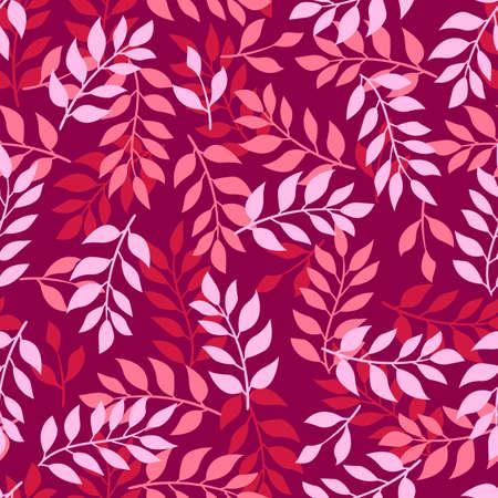 Seamless Leaves Pattern, Foliage Pattern, Vector Illustration EPS 10.