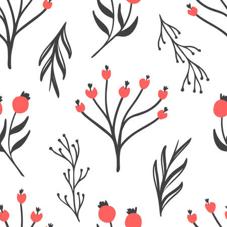 Abstract Branches Floral Pattern, Seamless Pattern, Vector Illustration EPS 10. Illustration