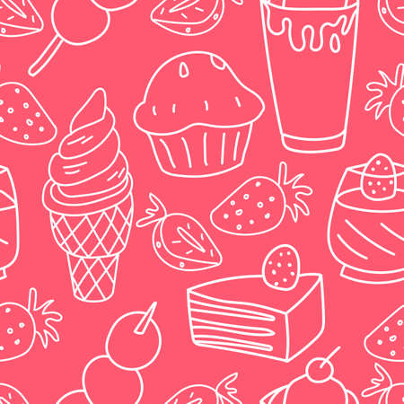 Abstract Sweet Food Pattern, Vector Illustration EPS 10.