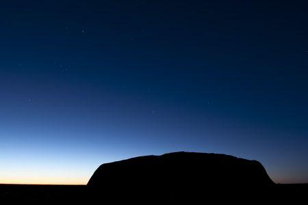 Silouette of Ayers Rock (Uluru)
