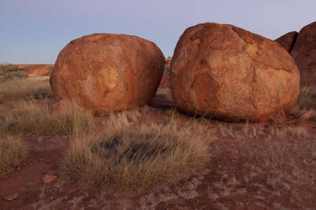 Devils Marbles in Australians Northern Territory north of Alice Springs photo