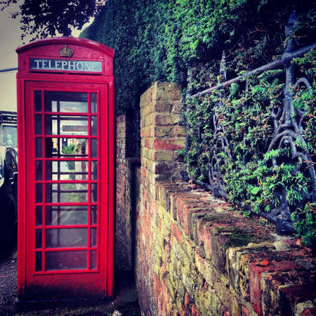 phone booth: British phone booth in Welwyn Hertfordshire