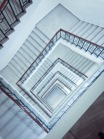 stairwell: A dreamy scene of a stairwell