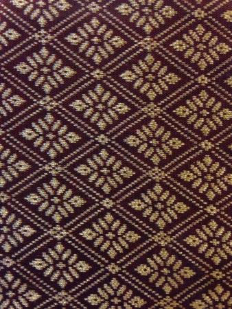 gold: Thai Songket Geometric Pattern  Stock Photo
