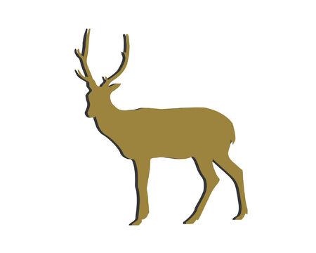 mamal: Deer Cutting Art  Illustration