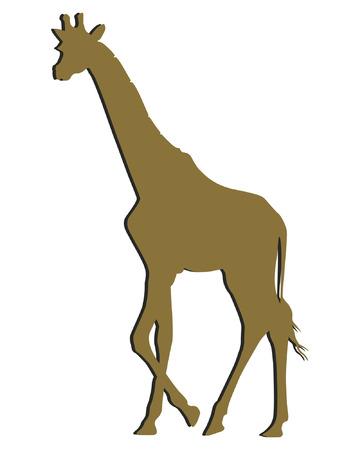 mamal: Giraffe Cutting Art