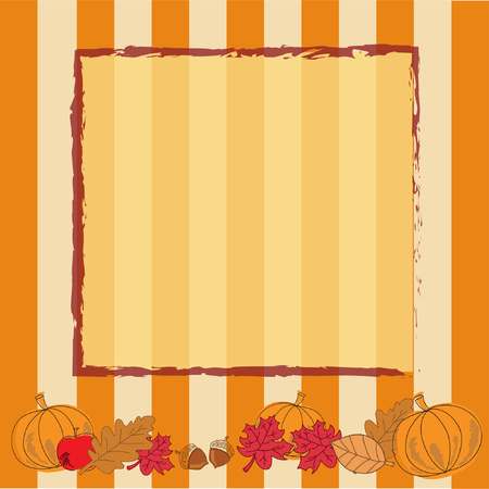 Autumn Thanksgiving Background Vector