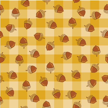 Acorn Autumn Seamless vector Background Vector
