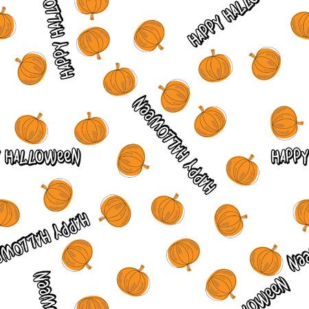 Happy Halloween Pumpkin Seamless Vector