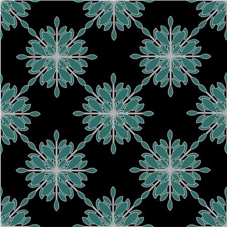 tiffany blue: Seamless Geometric Snowflakes Pattern