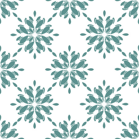 Seamless Geometric Snowflakes Pattern Vector