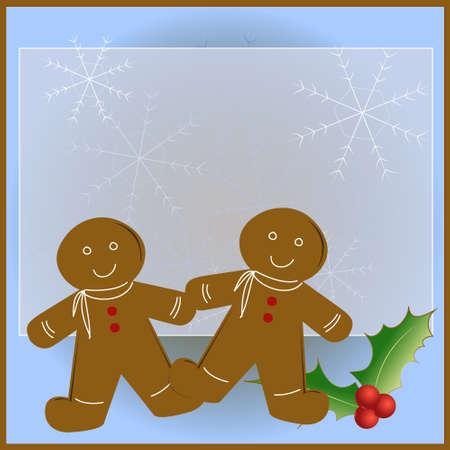 gingerbread man: Gingerbread Man Christmas Card