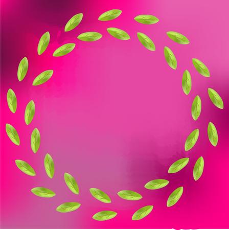 leafy: Leafy Wreath Illustration
