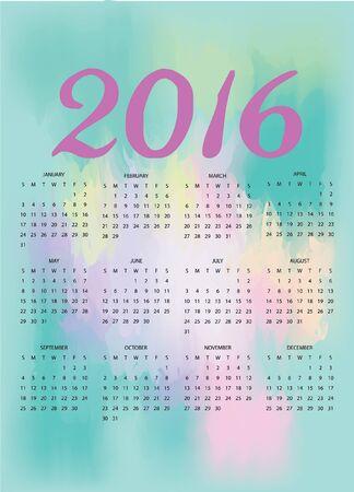 public celebratory event: 2016 Watercolor Calendar