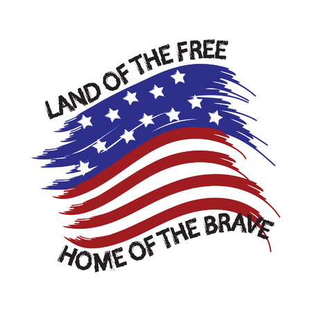 political rally: United States of America Land of the Free Home of the Brave Illustration
