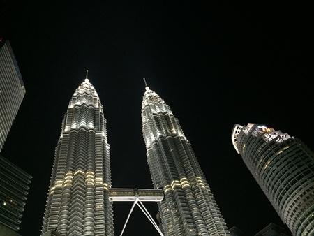 klcc: KLCC towers at night